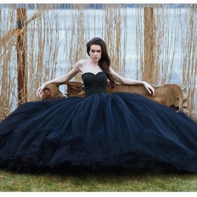 Schwarzes Brautkleid Prinzessin | Schöne Hochzeitskleider Online_2