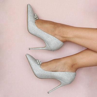 Ivory glitter wedding shoes | Wedding shoes white_4