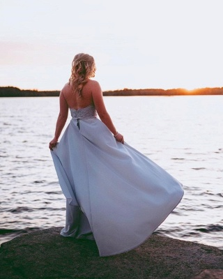 Elegante Abendkleider Lang Mit Spitze | Abendmoden Abiballkleider Online_3