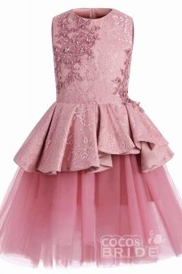 Blumenmädchen Kleid Spitze  | Blumenmädchenkleider Rosa_3