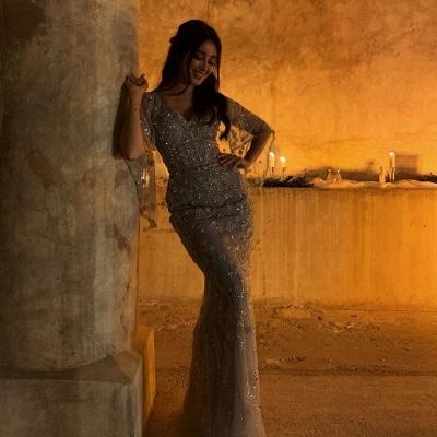 Abendkleid Lang mit Ärmel | Extravagante Abendkleider_2