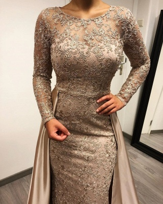 Designer evening dresses long with sleeves | Lace mother of the bride dresses cheap_3