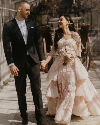 Wunderschöne Brautkleid Blush | A Linie Hochzeitskleid mit Spitze_5