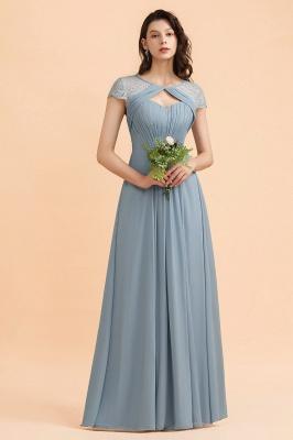 Schöne Abendkleider Stahlblau   Brautjungfernkleider Lang Günstig_4