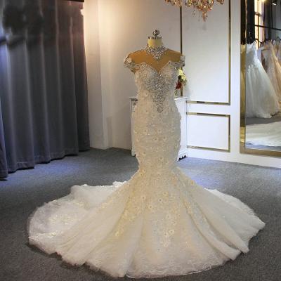 Extravagante Brautkleider Meerjungfrau | Hochzeitskleid Mit Spitze_2