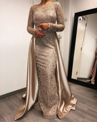 Designer evening dresses long with sleeves | Lace mother of the bride dresses cheap_2