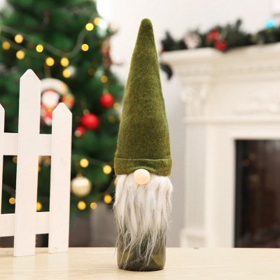 10 pieces Swedish Gnome Scandinavian Tomte Santa Nisse Nordic Plush Elf Toy Table Christmas tree decorations_5