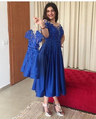 Blaue Abendkleider Cocktailkleider Kurz | Kinder Mutter Kleider Online_2