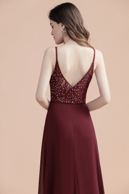 Evening dresses long wine red | Evening wear online_6
