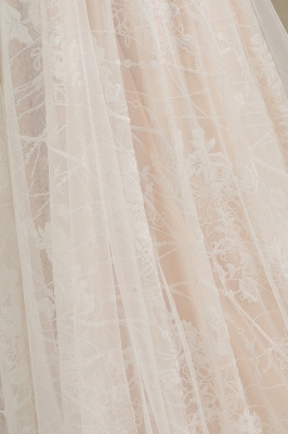 Designer wedding dress A line lace | Wedding dresses with sleeves_9