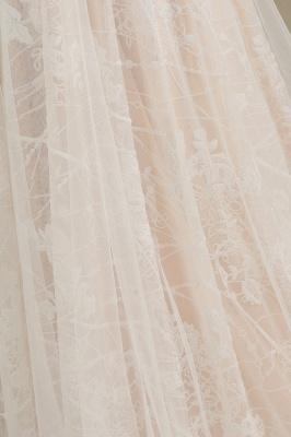 Designer Brautkleid A Linie Spitze | Hochzeitskleider mit Ärmel_9