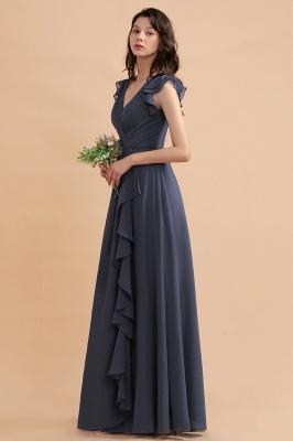 Brautjungfernkleider Lang Grau | Chiffon Kleider Für Brautjungfern_7