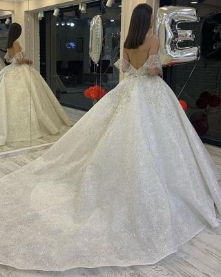 Elegante Brautkleider Glitzer | Hochzeitskleid A Linie_3