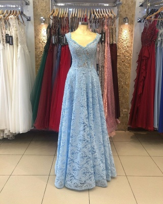Heller Blaue Abendkleider Umstandsmode | Mascara Kleider mit Spitze_2