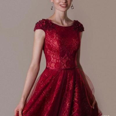 Rote Abendkleider Lang Glitzer | Abendmoden Online Kaufen_3