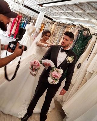 Designer Brautkleid Mit Ärmel | Spitze Hochzeitskleider A Linie_6