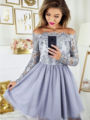 Cocktail dresses with sleeves | Short prom dresses glitter_2