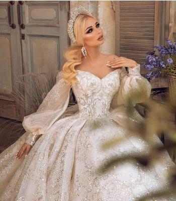 Extravagante Brautkleider | Prinzessinnen Brautkleider Mit Ärmel_6