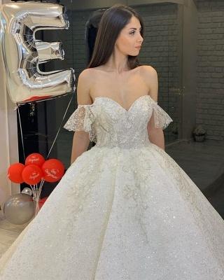 Elegante Brautkleider Glitzer | Hochzeitskleid A Linie_4