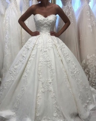 Elegant wedding dress princess | Beautiful wedding dress with lace_3