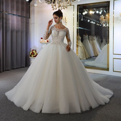 Extravagant wedding dresses with sleeves | Fancy wedding dresses princesses_3