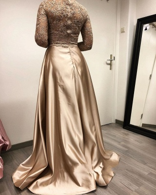 Designer evening dresses long with sleeves | Lace mother of the bride dresses cheap_4