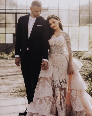 Wunderschöne Brautkleid Blush | A Linie Hochzeitskleid mit Spitze_2