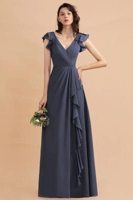 Brautjungfernkleider Lang Grau | Chiffon Kleider Für Brautjungfern_5