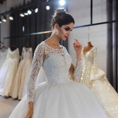 Extravagant wedding dresses with sleeves | Fancy wedding dresses princesses_4