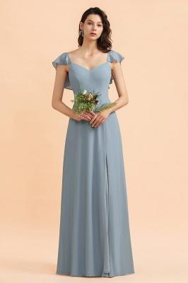 Brautjungfernkleider Stahlblau Lang Günstig   Kleider Für Brautjungfern_4