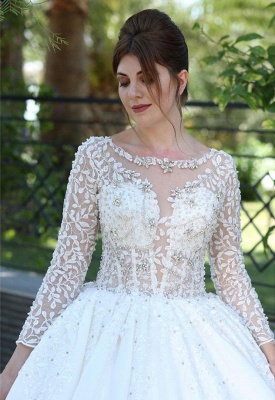 Elegante Brautkleider Mit Ärmel | Brautmoden Prinzessinen Spitze_3