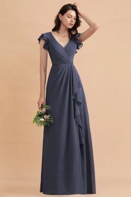 Brautjungfernkleider Lang Grau | Chiffon Kleider Für Brautjungfern_6