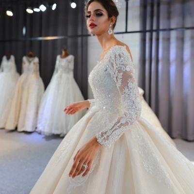 Hochzeitskleid Langarm Umstandsmode | Brautkleider Online Kaufen_3