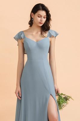 Brautjungfernkleider Stahlblau Lang Günstig   Kleider Für Brautjungfern_5