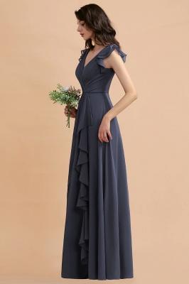 Brautjungfernkleider Lang Grau | Chiffon Kleider Für Brautjungfern_8