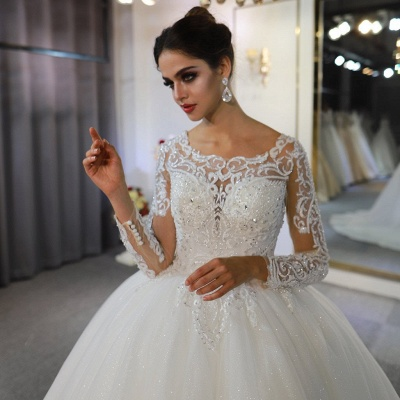 Extravagant wedding dresses with sleeves | Fancy wedding dresses princesses_5