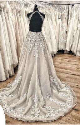 Designer wedding dress A line | Gorgeous wedding dresses with lace_3