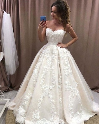 Elegant wedding dress princess | Beautiful wedding dress with lace_2