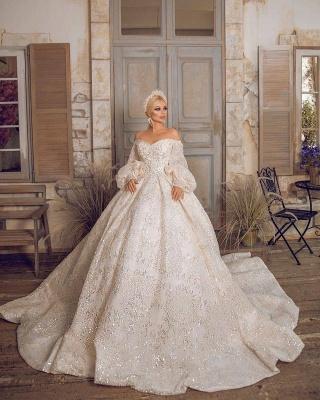 Extravagante Brautkleider | Prinzessinnen Brautkleider Mit Ärmel_2