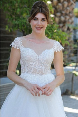 Simple wedding dresses with lace | dresses for wedding online_2