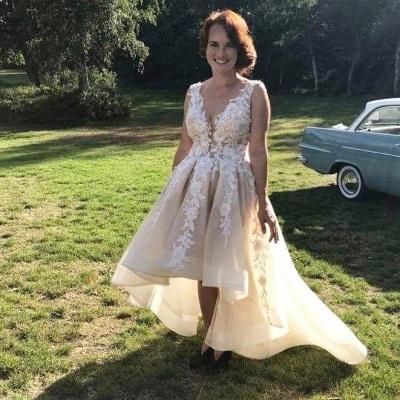 Designer Brautkleid V Ausschnitt | Hilo Hochzeitskleid A Linie Mit Spitze_3