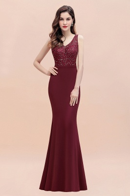 Elegante Abendkleider Lang V Ausschnitt | Abendmoden Online_7