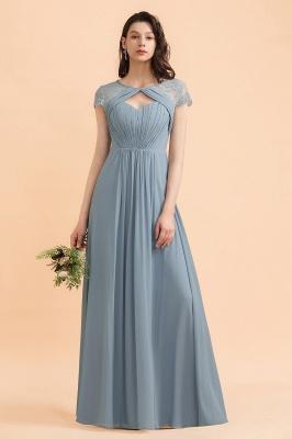 Schöne Abendkleider Stahlblau   Brautjungfernkleider Lang Günstig_1