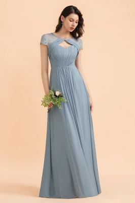 Schöne Abendkleider Stahlblau   Brautjungfernkleider Lang Günstig_6