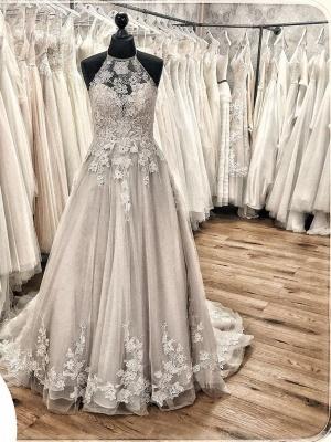 Designer wedding dress A line | Gorgeous wedding dresses with lace_2
