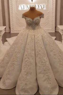 Extravagante Brautkleider Prinzessinen | Hochzeitskleider mit Spitze_3
