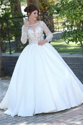 Elegante Brautkleider Mit Ärmel | Brautmoden Prinzessinen Spitze_1