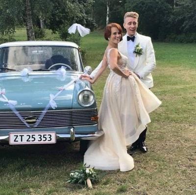 Designer Brautkleid V Ausschnitt | Hilo Hochzeitskleid A Linie Mit Spitze_2