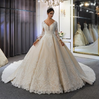 Hochzeitskleid Langarm Umstandsmode | Brautkleider Online Kaufen_2