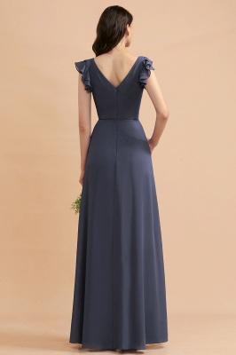 Brautjungfernkleider Lang Grau | Chiffon Kleider Für Brautjungfern_3